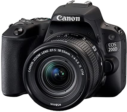 Canon EOS 200D 24 2MP Digital SLR Camera + EF-S 18-55 mm f4 is STM Lens,  Free Camera Case and 16GB Card Inside