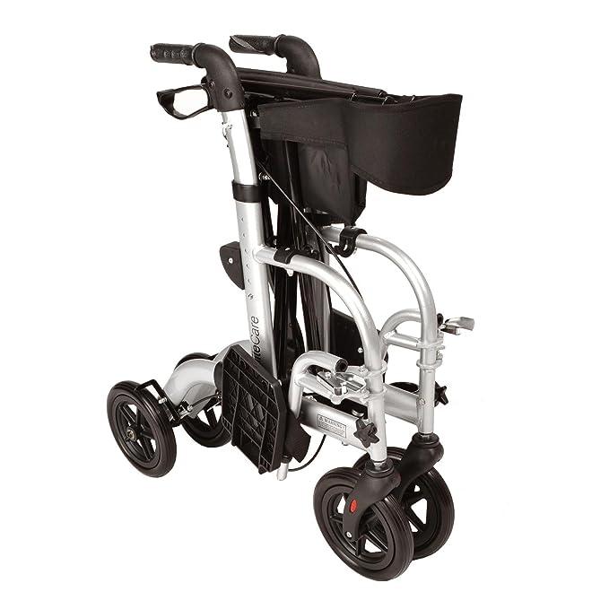 2 en 1 andador / silla de ruedas plegable de transporte