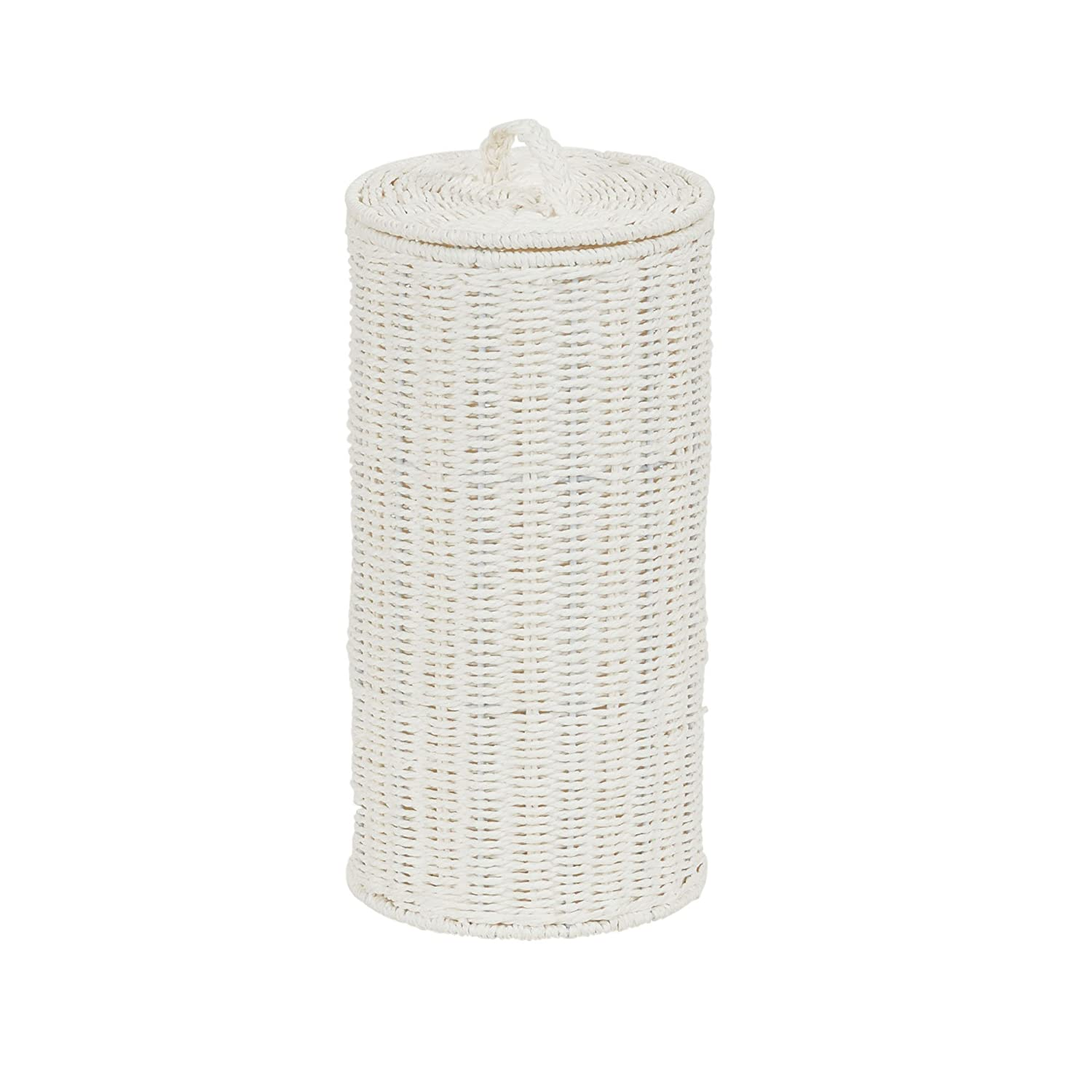 Household Essentials ML-6694 Wicker Toilet Tissue Paper Holder | Free Standing | Natural