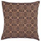 "Home Collection by Raghu Marshfield Jacquard Black & Tan Pillow Cover, 18"" x 18"""