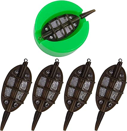 FEEDER AND MOULD 4 /& 1 INLINE METHOD SET FOR CARP FISHING TACKLE FEEDER MOULD