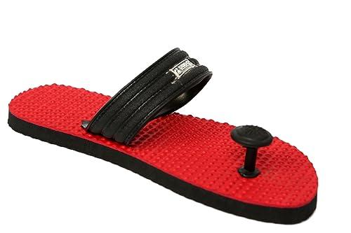 982c623c40ec Sona Men s Red Color Eva Slippers-9  Buy Online at Low Prices in ...