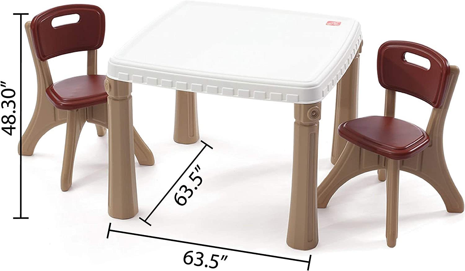 Amazon.com Step9 Lifestyle Kitchen Plastic Table and Chairs Set ...