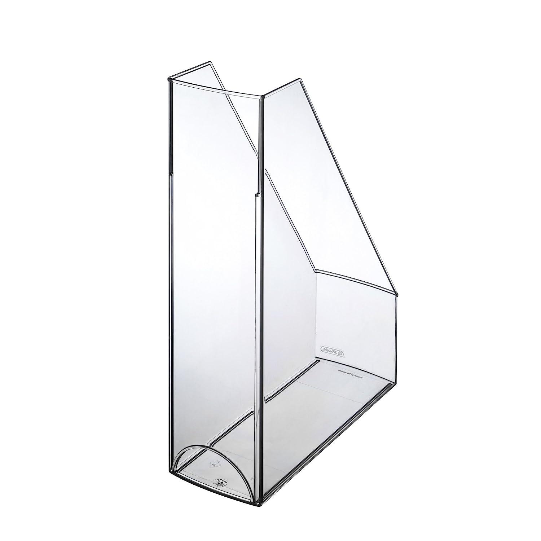4 Herlitz Stehsammler Farbe transparent weiß Plastik Stehordner