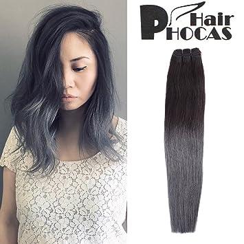 Amazon hairphocas 100 brazilian human hair weave black to hairphocas 100 brazilian human hair weave black to dark grey 2 tone ombre hair pmusecretfo Images