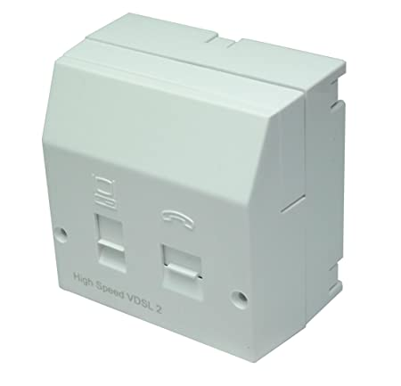 TUK AA:AAVNTEcc Vdsl2 High Speed Centralised Splitter Together with Rear  Mounting Box - Bright White