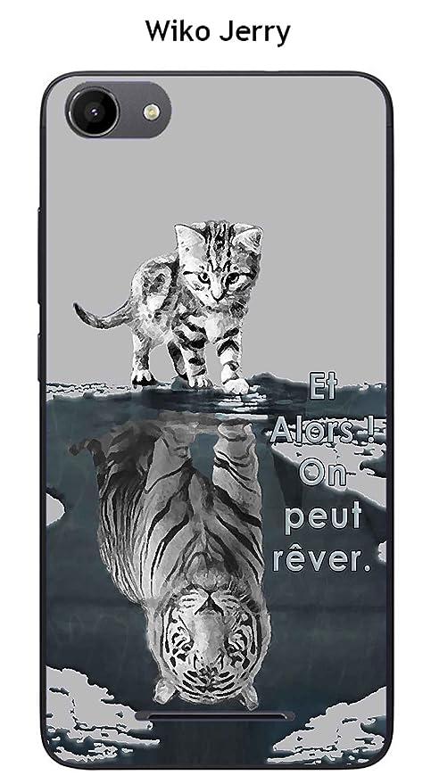 Onozo Carcasa Wiko Jerry - Lenny 3 Design gato tigre blanco ...