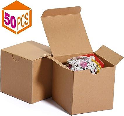 HOUSE DAY Cajas de regalo 7.6x7.6x7.6cm, cajas de papel blanco con ...