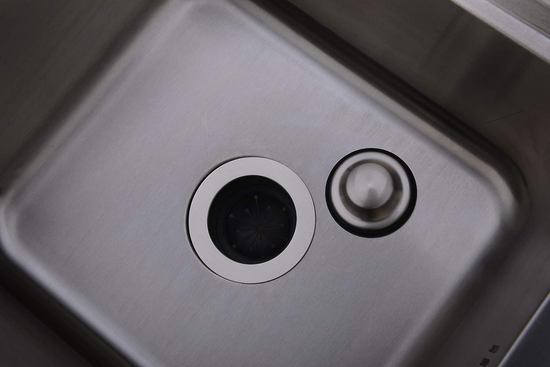 BESTILL EZ-Mount Garbage Disposal Sink Flange Kit with Stopper,Brushed Nickel