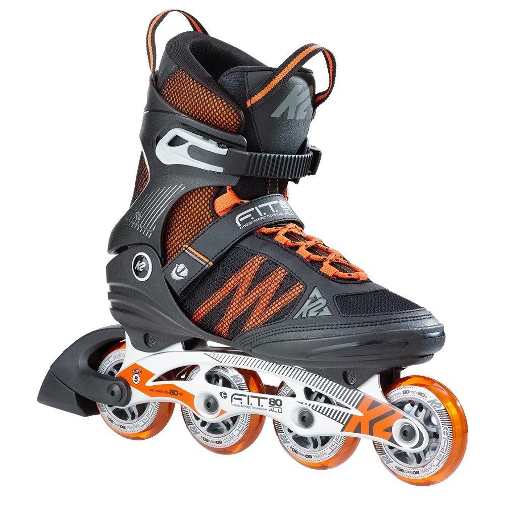 K2 Skate F.I.T. 80 Alu, Black Orange, 10.5