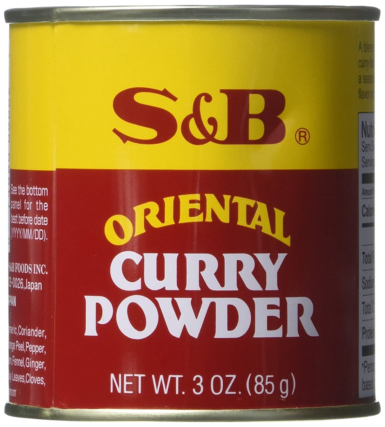Amazon.com : S&B Curry Powder, Oriental, 3 oz (85 g) (Pack of 2) : Grocery &  Gourmet Food