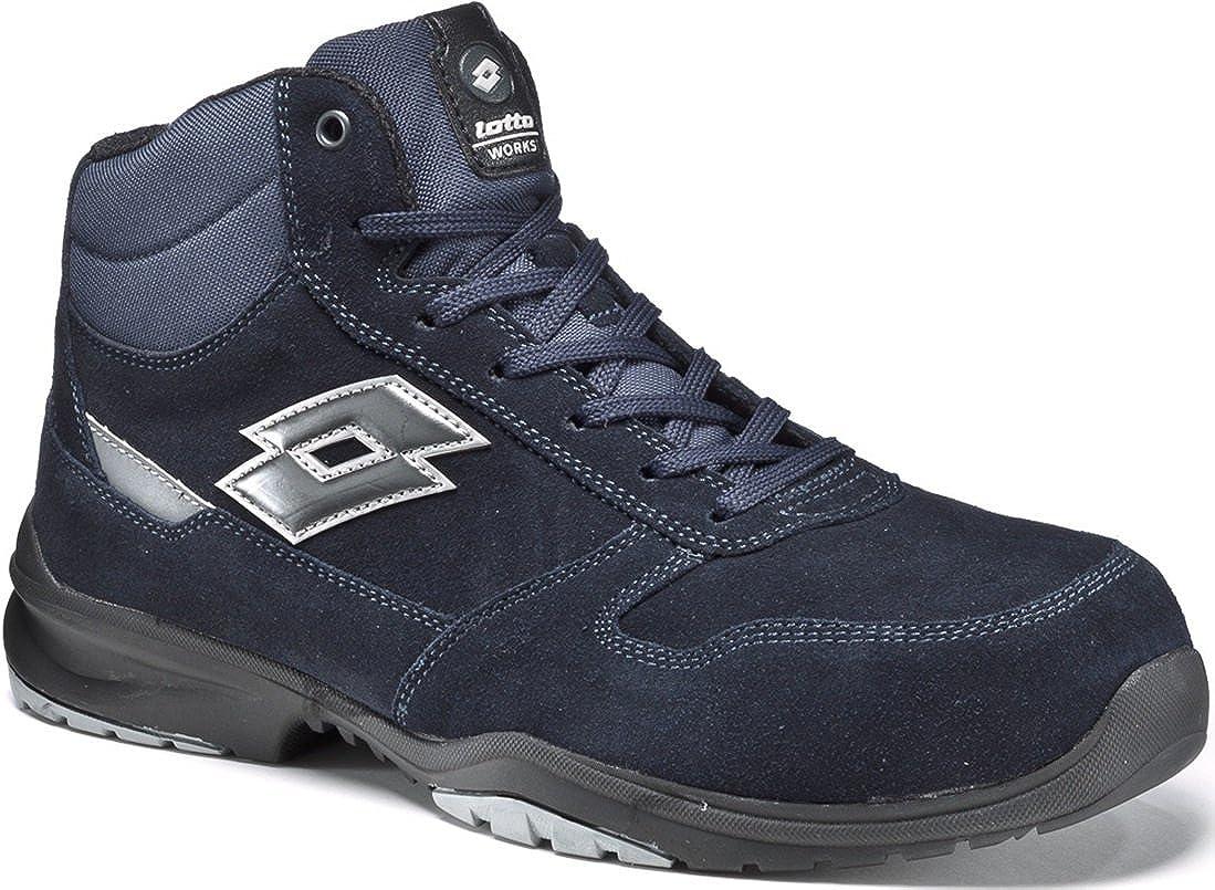 c7de61f2e32b Lotto Safety Shoes Works Flex Evo Mid S3 SRC HRO Memory Foam Blue-771204   Amazon.co.uk  Shoes   Bags