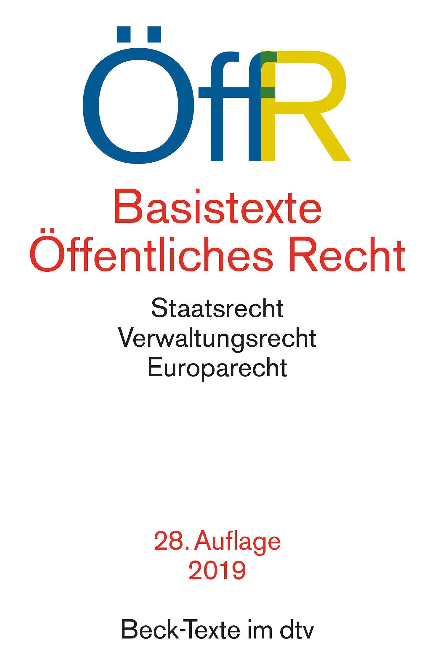 Basistexte öffentliches Recht 9783406580925 Amazon Com Books