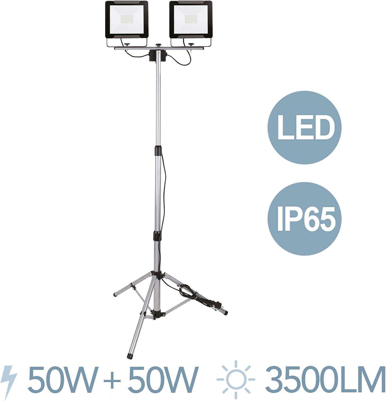 Electraline 63440 Foco Led Proyector sobre Trípode, 50 W, Gris ...