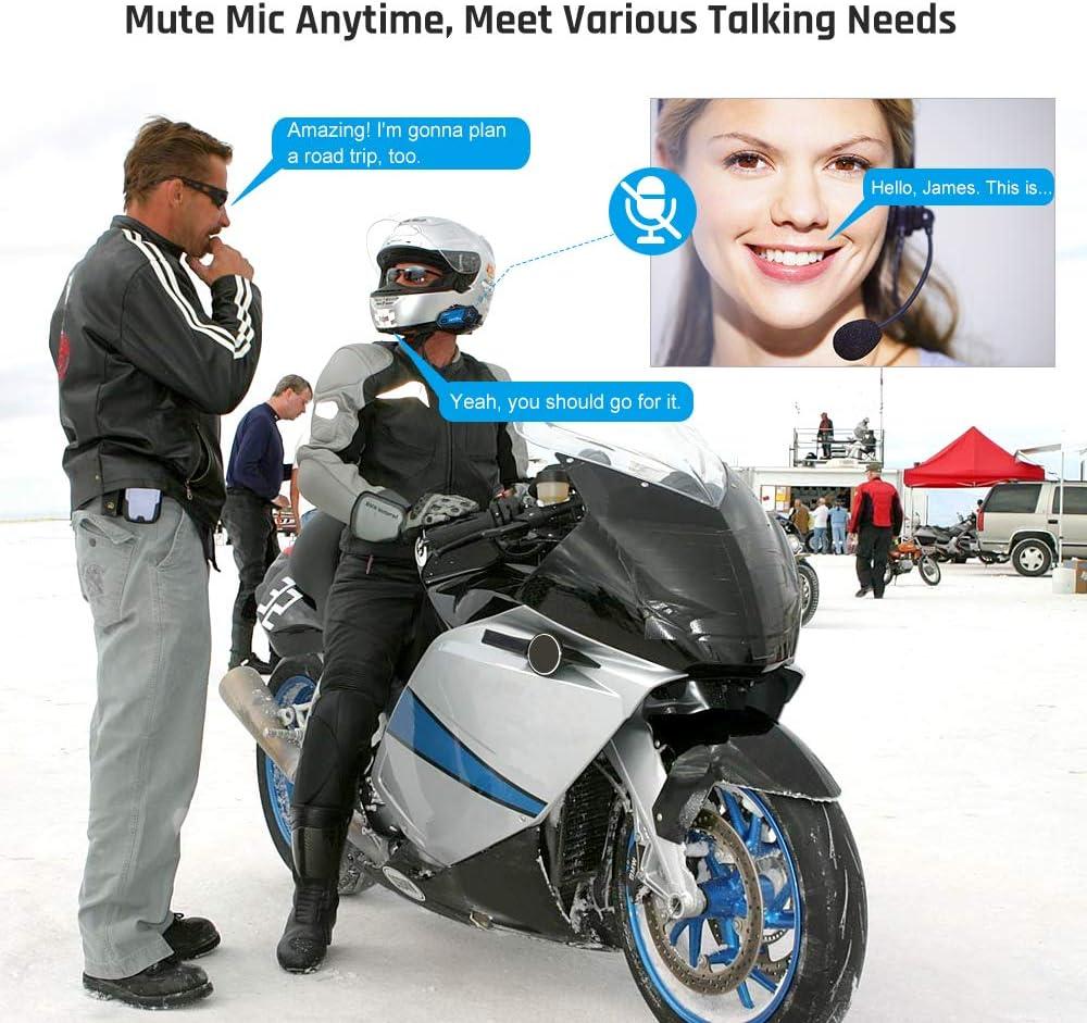 Radio FM,Intercom Casco Moto para 8 Motoristas,Gran bater/ía Potente Manos Libres Azul rosado Fodsports M1S Plus Intercomunicador Casco Moto con Compartir M/úsica,Moto Bluetooth Casco Comunicador