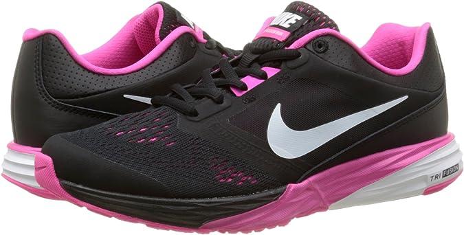 Nike Wmns Tri Fusion Run, Zapatillas, Mujer, Negro (Black / White-Pink Foil), 36: Amazon.es: Zapatos y complementos