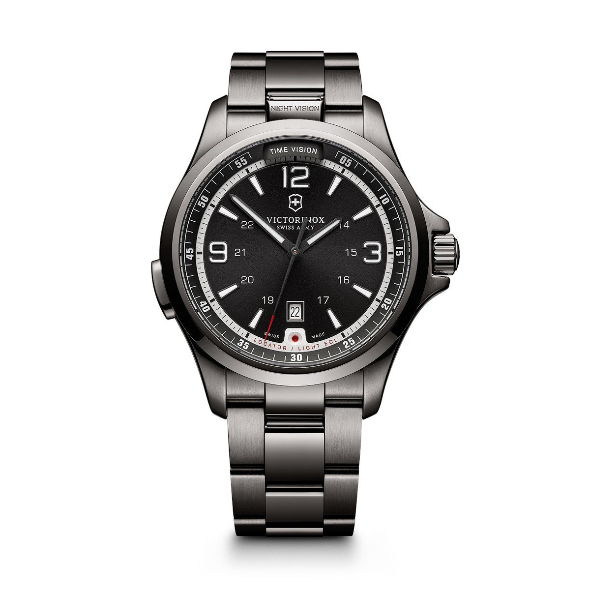 2f5b8979f Amazon.com: Victorinox Men's Night Vision Titanium Swiss-Quartz Watch with  Rubber Strap, Black, 21 (Model: 241664): Victorinox Swiss Army: Watches