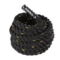 TOMSHOO Battle Rope Schwungseil Länge 10M/12M /15M Trainingsseil Sportseil Schlagseil für Sprung- Kletterübungen oder Tauziehen