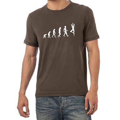 Texlab Yoga Evolution - Herren T-Shirt, Größe S, Braun