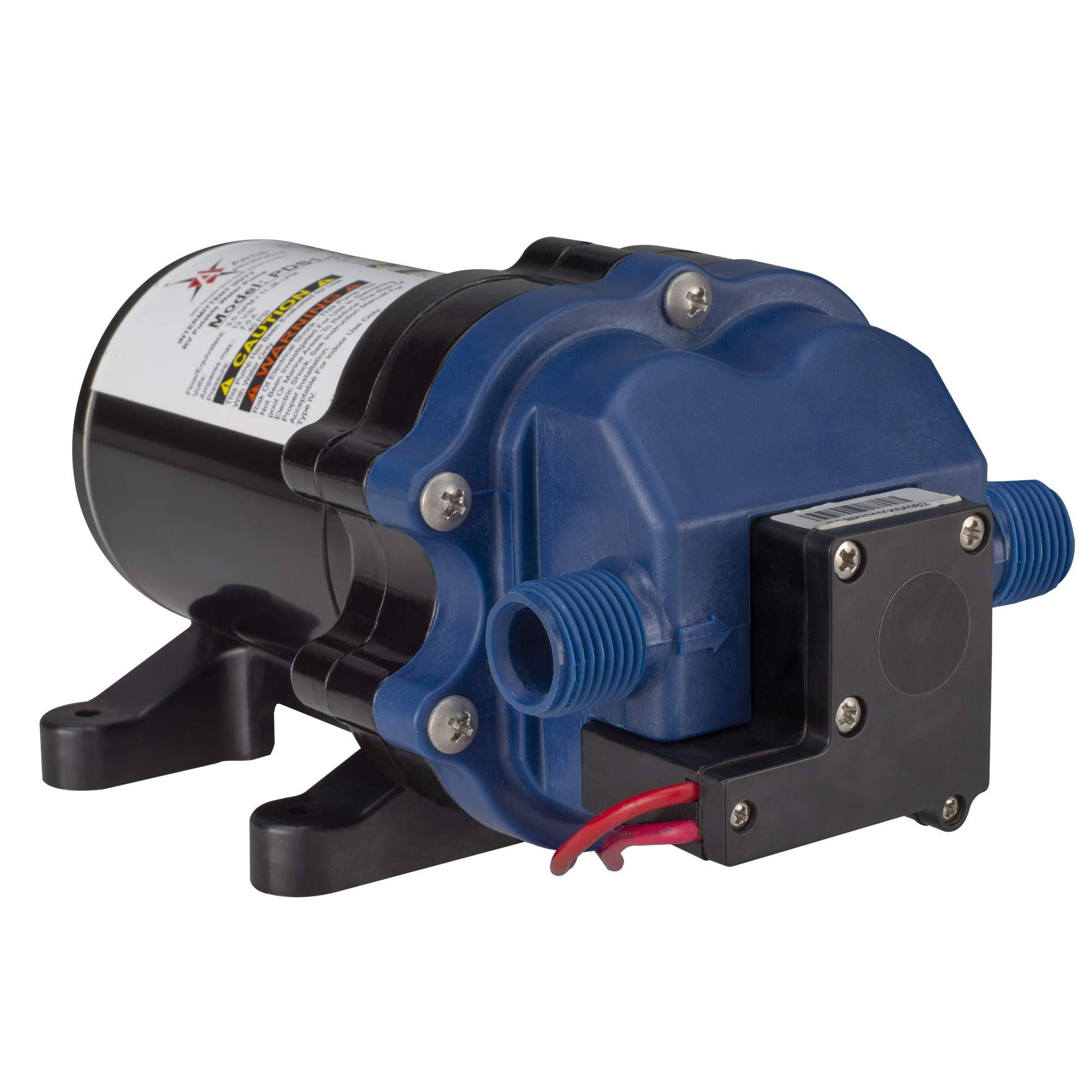WFCO ARTIS New PDS1-130-1240E 12 Volt 12V RV Camper Potable Water Pump 3.0 GPM - No Strainer by WFCO ARTIS