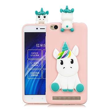 HereMore Funda Xiaomi Redmi 4A, Carcasa Protectora con Diseño de Unicornio Suave Flexible Silicona Gel Case Antigolpes Anti-Rasguño Cubierta de ...