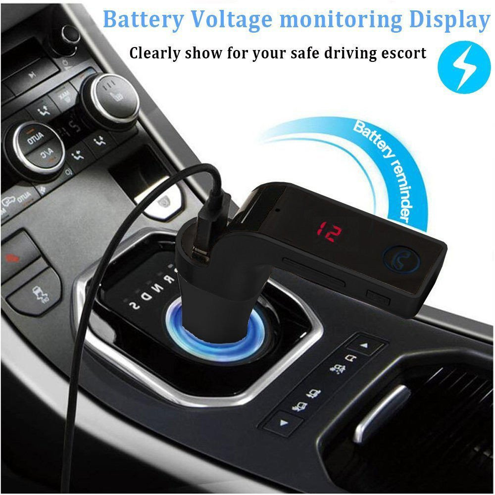 Covermason Kit mains libres voiture Bluetooth FM Transmetteur Radio MP3 Player USB chargeur /& AUX