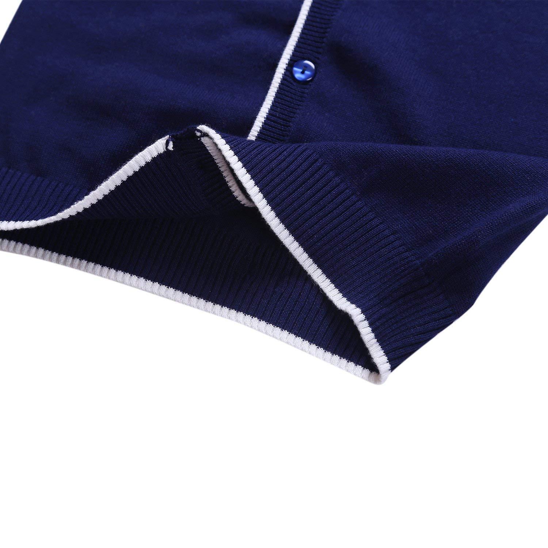 Boys Sweater Long Sleeve Casual Cardigan V-Neck 100/% Cotton Cardigan Sweater