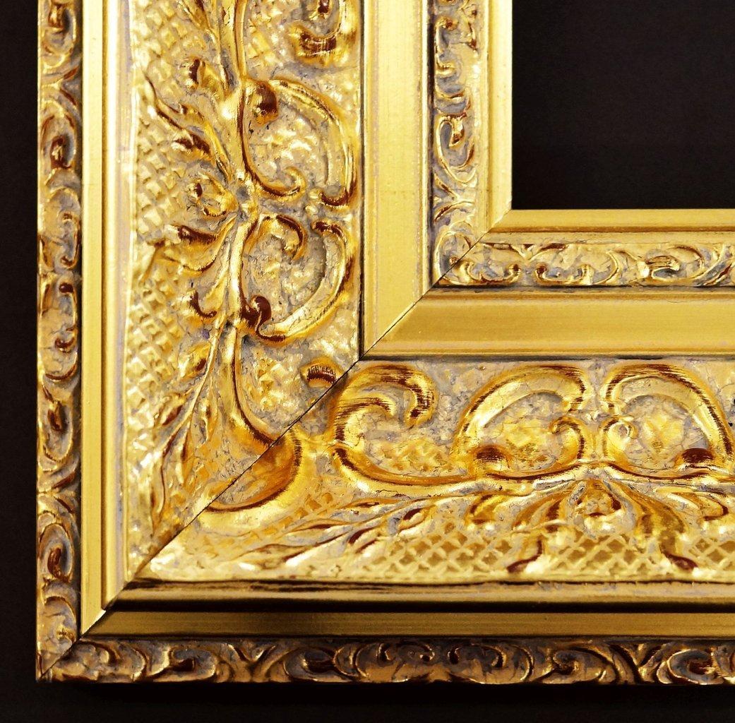Spiegel Wandspiegel Badspiegel Flurspiegel Garderobenspiegel - Über 200 Größen - Volkach alt - gold, Ornament metallisiert 10,0 - Außenmaß des Spiegels 100 x 140 - Über 100 Größen zur Auswahl - Wunschmaße auf Anfrage - Antik, Barock