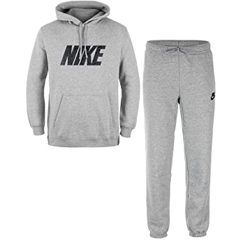 f9559c946 Nike M NSW TRK Suit FLC GX Tracksuit for Man, Grey (Dk Grey Heather ...