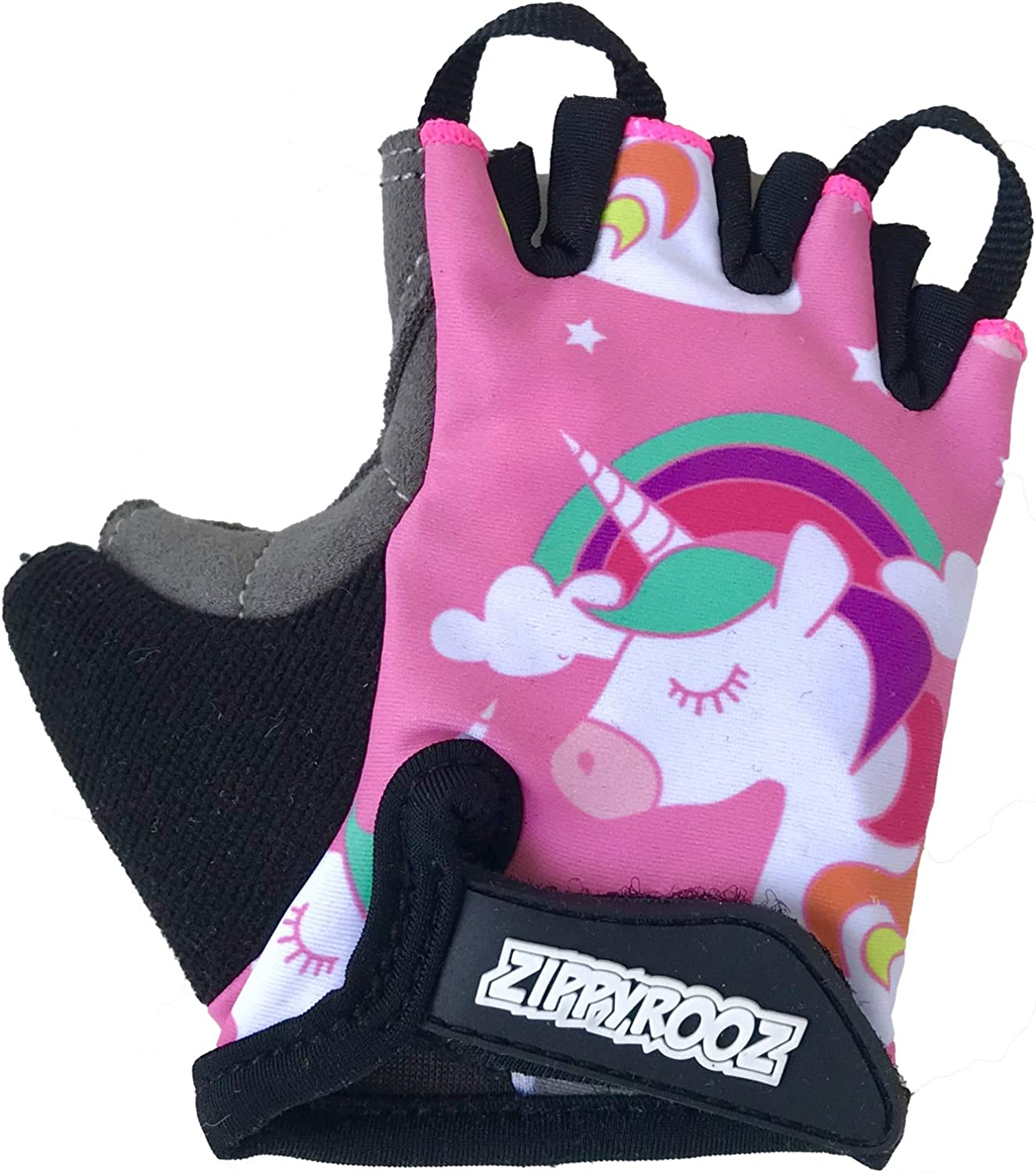 ZippyRooz Toddler & Little Kids Bike Gloves for Balance and Pedal Bicycles for Ages 1-8 Years Old. 8 Designs for Boys & Girls