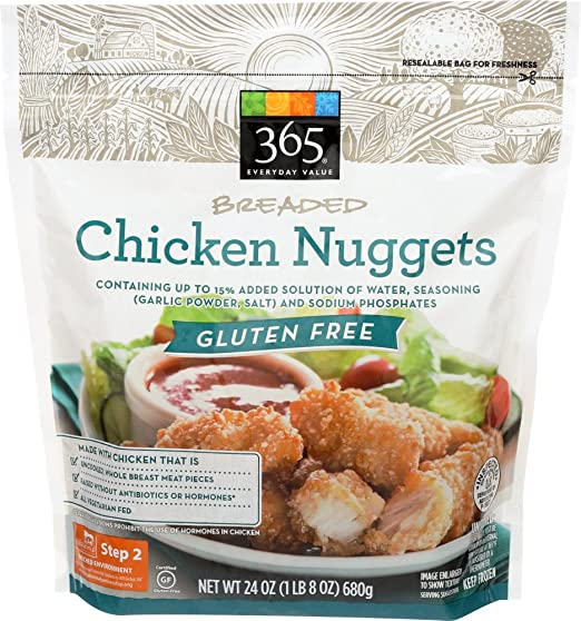 365 Everyday Value Uncooked Breaded Chicken Nuggets Gluten Free 24