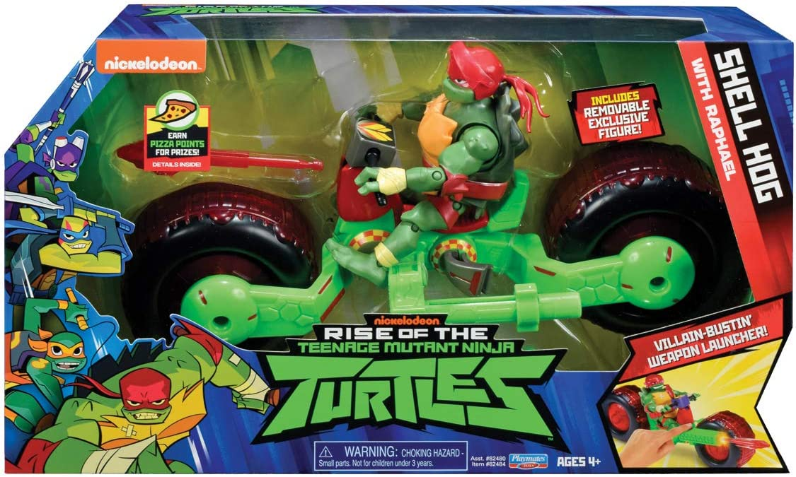 Turtles The Rise of The Teenage Mutant Ninja Vehicle with Figure - Shell Hog with Raph