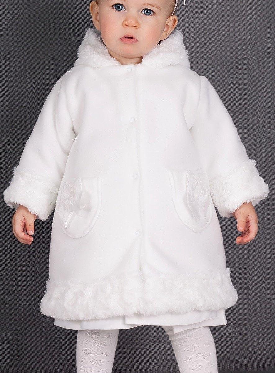 /Produkt Gespeichert und verschickt Schnell seit Frankreich Boutique-Magique Mantel M/ädchen Baby wei/ß/