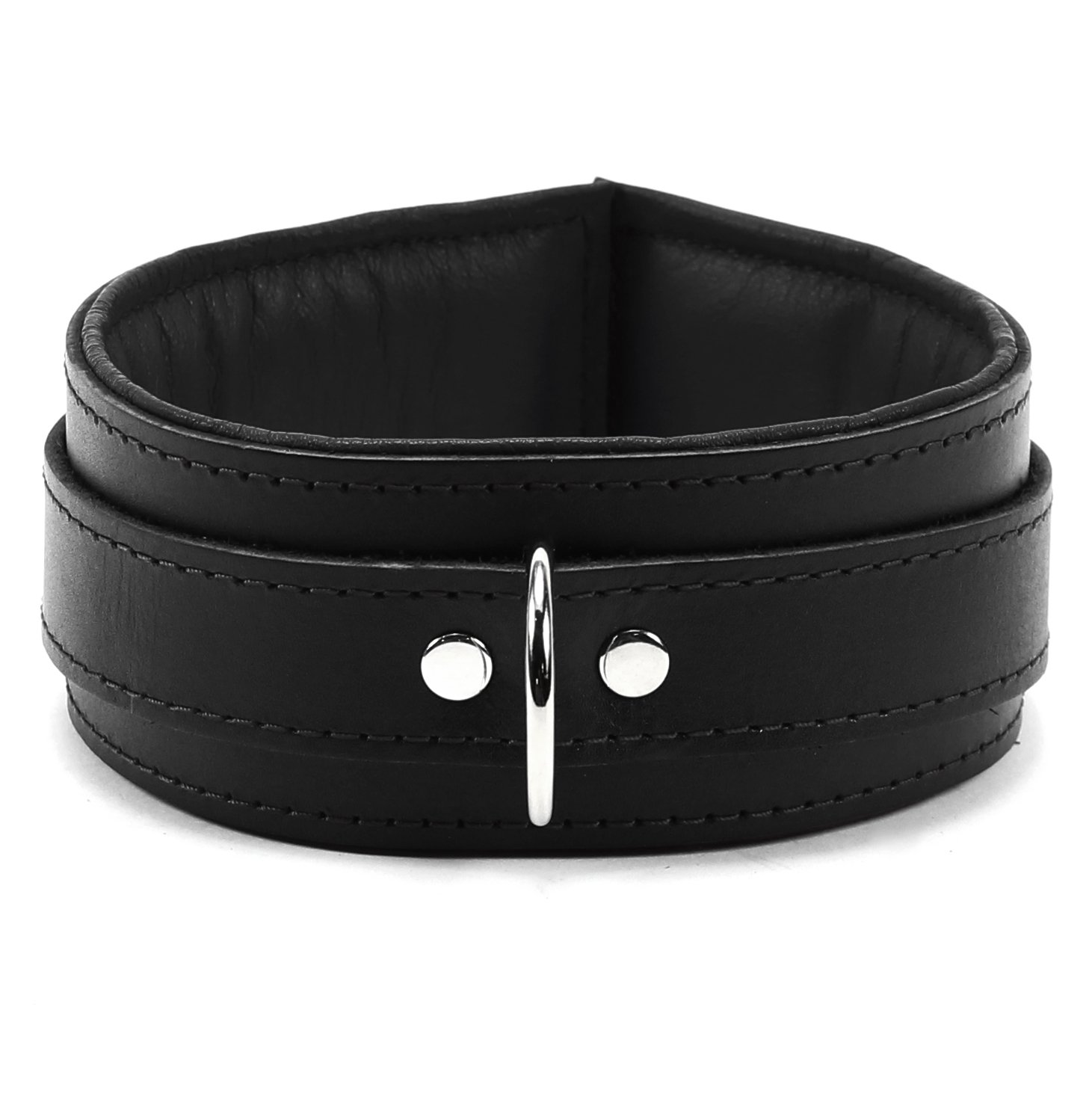 VP Leather Mandrake Collar Premium Handmade Leather - Black