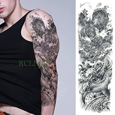 Modeganqing Conjunto de 3 Piezas Impermeable Tatuaje Temporal ...