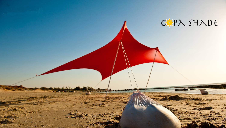 CopaShade tragbar Strand Zelt Lösung für Outdoor Sonnenschutz   perfekt für Angeln, Meer Aktivitäten, Wandern und Festivals.