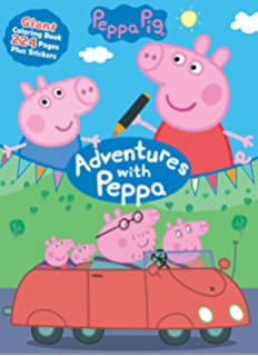 Amazon.com: Peppa Pig Coloring Set- Pencils, Stickers, Coloring in ...