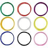 ohCome 1.75mm PLA Filament Imprimante 3D Filament pour la 3D Dessin Pen 3D printig, 9Color 10M 30G / PCS - noir, blanc, rouge, orange, bleu, vert, rose, jaune, violet Couleur