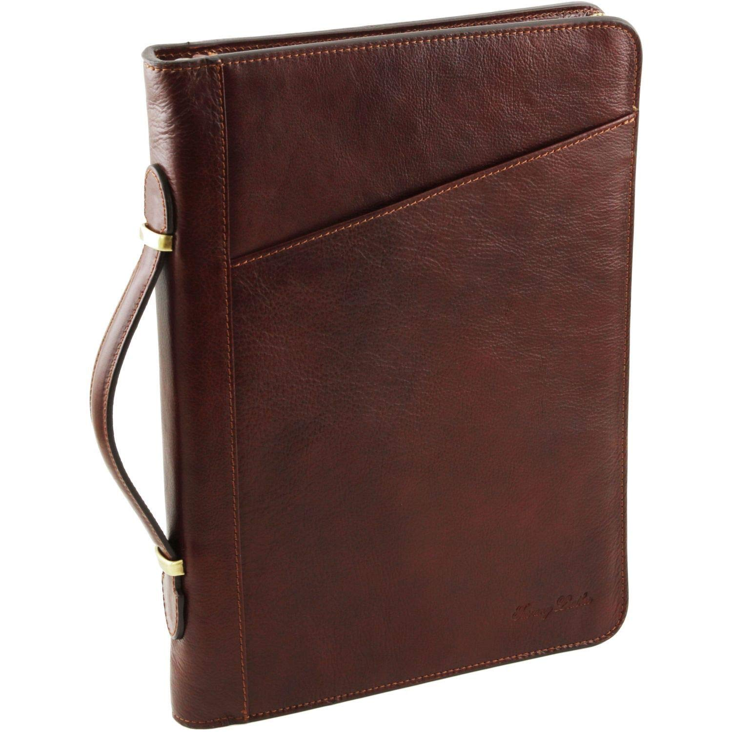 Tuscany Leather Claudio Exclusive leather document case with handle Brown 1404/_1/_1
