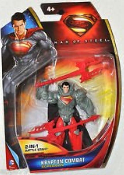 NEW SUPERMAN MAN OF STEEL KRYPTON COMBAT SUPERMAN w// 2-IN-1 BATTLE STAFF