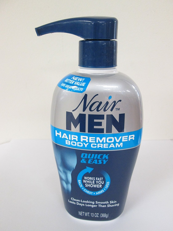 Nair For Men Hair Removal Body Cream 13 oz (Pack of 4)
