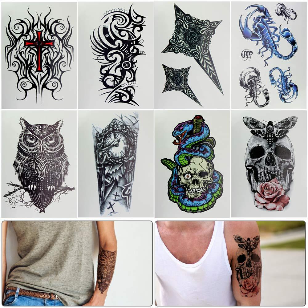 Moda Tatuajes Temporales Transferencia Pegatinas impermeables, no ...