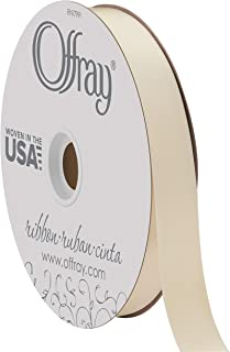 """product image for Berwick Offray 7/8"""" Wide Double Face Satin Ribbon, Ivory White, 100 Yards"""