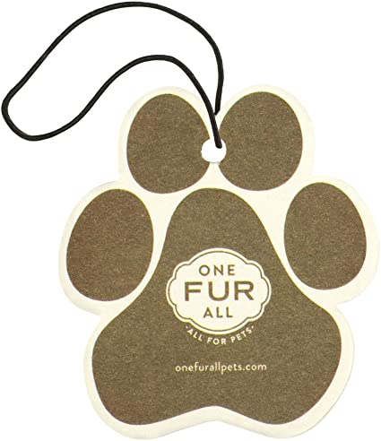 One Fur All - Ambientador de coche, paquete de 4 ambientadores no tóxicos, ambientador para mascotas, eliminador de olor, ideal para espacios ...