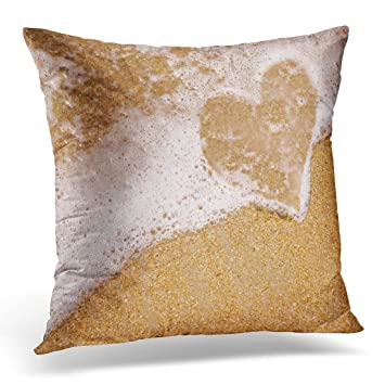 Amazon Golee Throw Pillow Cover Blue Love Seashore With Surf Simple Seashore Decorative Pillows