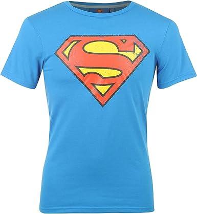 Camiseta de Superman para hombre Azul Azul Superman X-Small: Amazon.es: Ropa y accesorios