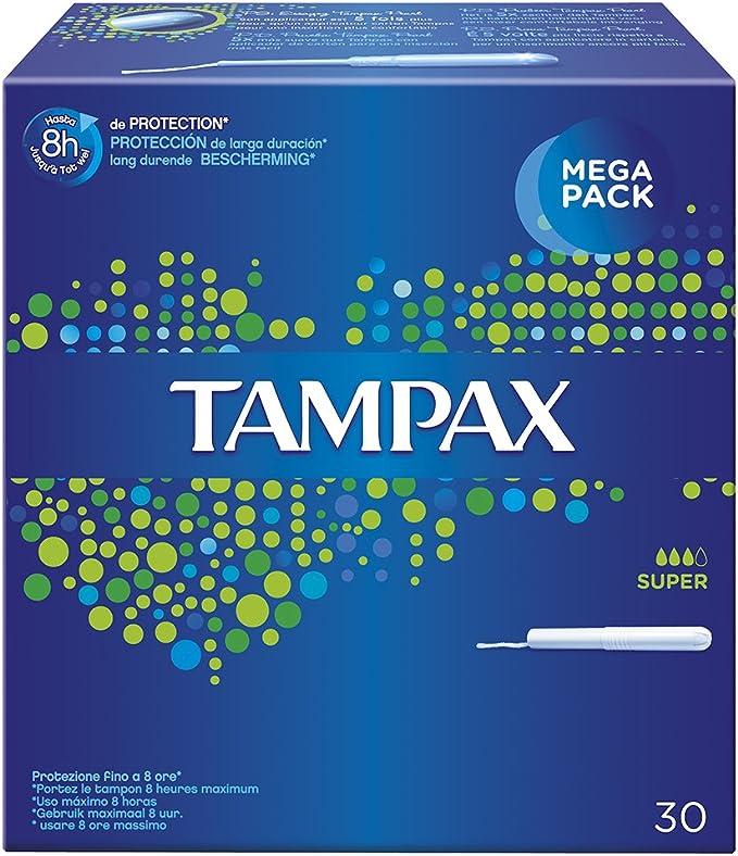 30 Unidades TAMPAX Superplus Tampones