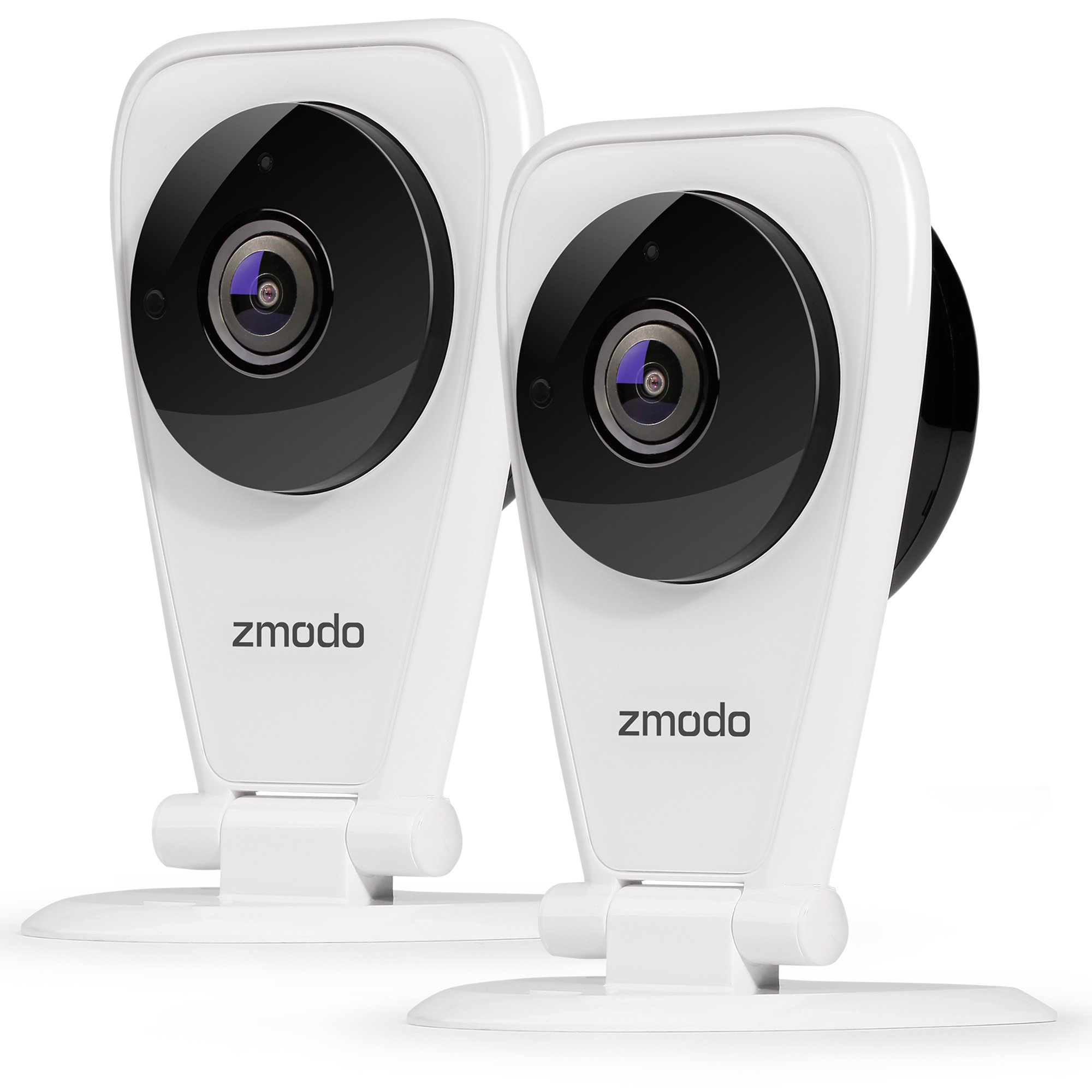 Zmodo EZCam 720p HD IP Camera, Wi-Fi Home Security Surveillance Camera System with Night Vision, Motion Alert, Remote Monitor, Cloud Service Available - Work with Alexa (2 Pack) by Zmodo