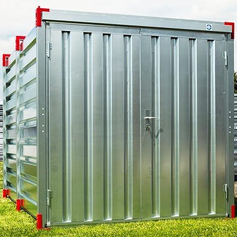 XXL Almacenamiento Contenedor Jardín Caja Contenedor Herramientas Cobertizos Diseño Contenedor 5 m x 2,20 m