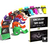 Physix Gear Kinesiology Tape Pro - Waterproof Physio Sports Tape for Pain & Injuries, Pregnancy, Muscle, Knee, Joint Support,